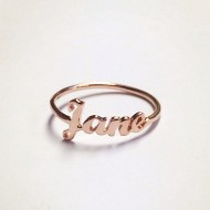 Custom-Made Tiny Name Ring