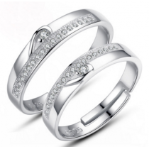 Engrave Name Couple Ring Set A