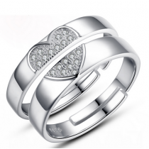 Engrave Name Couple Ring Set D