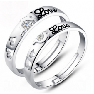 Engrave Name Couple Ring Set B