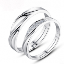 Engrave Name Couple Ring Set E