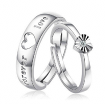 Engrave Name Couple Ring Set F