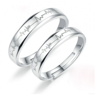 Engrave Name Couple Ring Set K