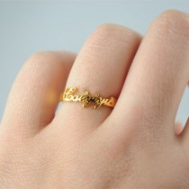 Custom-Made Name Ring