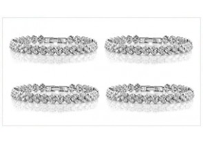 [ 60 % Off ] Zirconia Elements Bracelet 4 Unit Deal