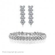 [ 60 % Off ] Zirconia Elements Bracelet + Earring Deal