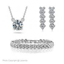 [ Clearance ] Zirconia Elements Bracelet + Necklace + Earring