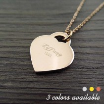 Engraved Name Love Pendant Necklace
