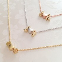 Alphabet Necklace With Heart ( A - Z )