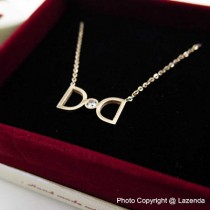 D Rose Gold Necklace
