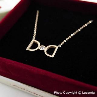 D Rose Gold Necklace