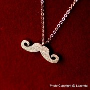 Scrub Moustache Rose Gold Necklace