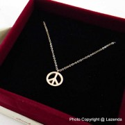 Peace Rose Gold Necklace