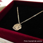 Flower Rose Gold Necklace