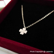 Scrub Clover Rose Gold Necklace