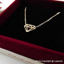 Diamond Icon Rose Gold Necklace