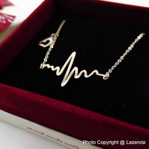 Heart Beat Rose Gold Necklace
