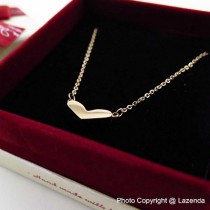 Wide Love Rose Gold Necklace