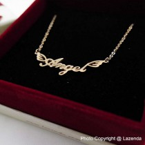 Angel Word Necklace