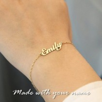24k gold plated name Bracelet
