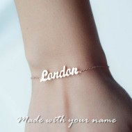 Rose Gold Plated Name Bracelet