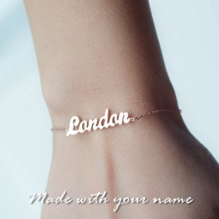 Rose Gold Plated Name Bracelet