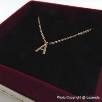 Rose Gold Alphabet Necklace ( A - Z )