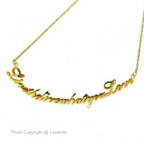 Curve Name Necklace