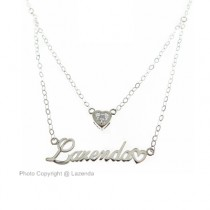 Double Layer Name Necklace