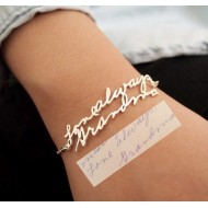 Hand-Writing Name Necklace / Bracelet