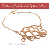 Custom-Made Rose Gold monogram bracelet