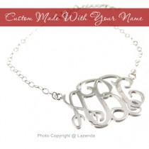 Custom-Made sterling silver monogram bracelet