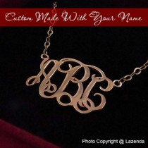 Custom-Made Rose Gold monogram necklace