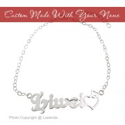 White Gold Plated Name Bracelet