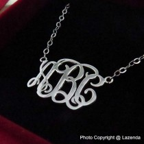 Custom-Made sterling silver monogram necklace