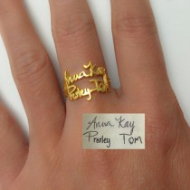 Custom-Made Double Layer Name Ring