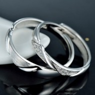 Engrave Name Couple Ring Set R10