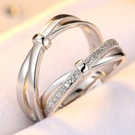 Engrave Name Couple Ring Set R11