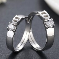 Engrave Name Couple Ring Set R7