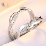 Engrave Name Couple Ring Set R8