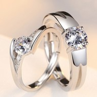 Engrave Name Couple Ring Set R9