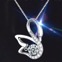 Twinkle Diamond Swan Necklace