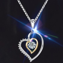 Twinkle Diamond Love Necklace