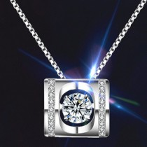 Twinkle Diamond Box Necklace