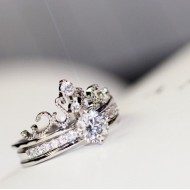 Zirconia Tiara Ring Set ( 2 in one )